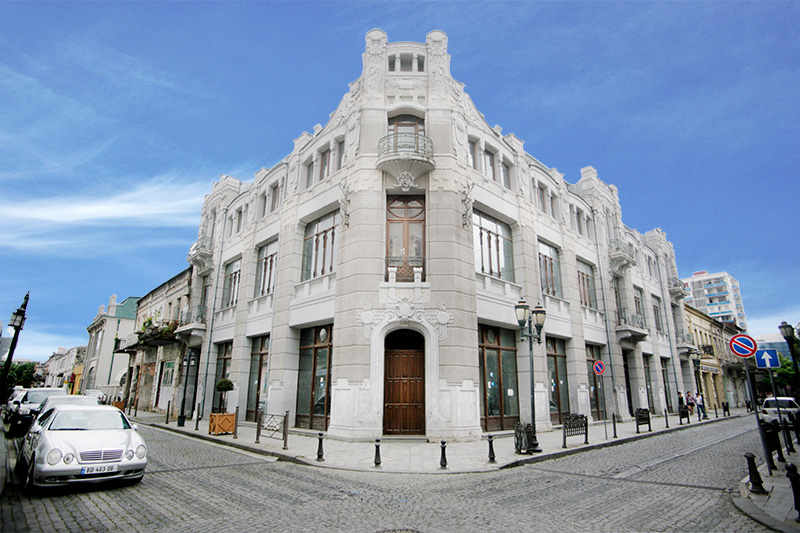 A three-storey building